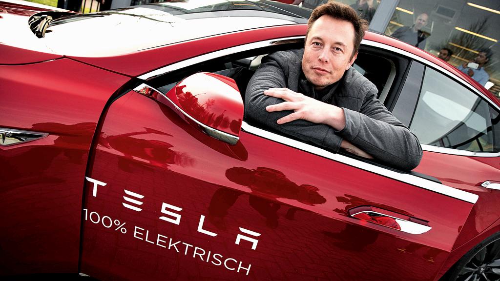 Elon Musk Car Smile
