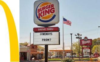 งานเต้นรำของพระราชา Burger King และ ราชินี Wendy's นี้ต้องไม่มี McDonald's