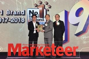 คริสตัล ตอกย้ำแบรนด์น้ำดื่มคุณภาพยอดนิยมของคนไทย คว้ารางวัล No.1 Brand Thailand 2017-2018