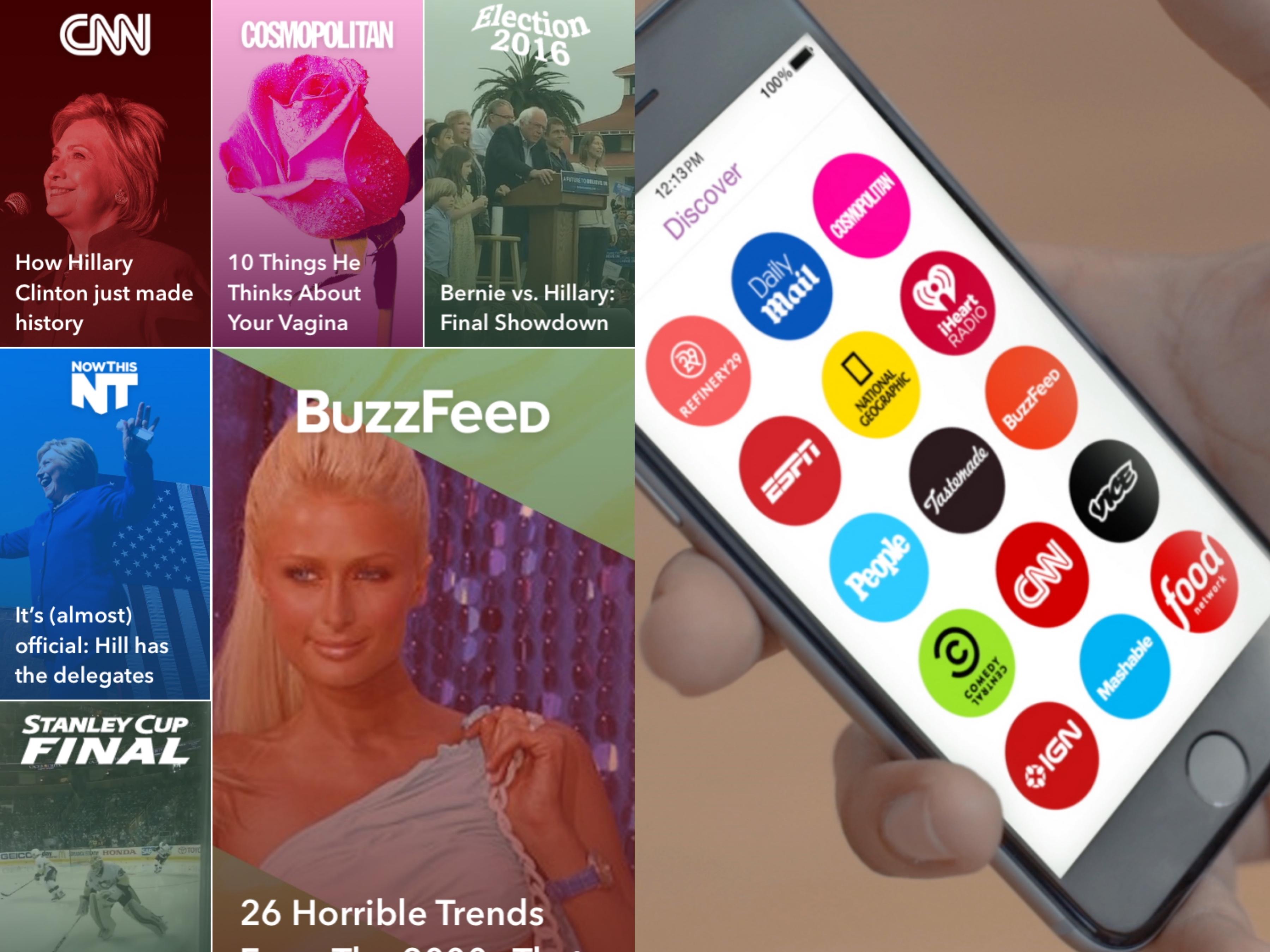 IGTV Snapchat Discover