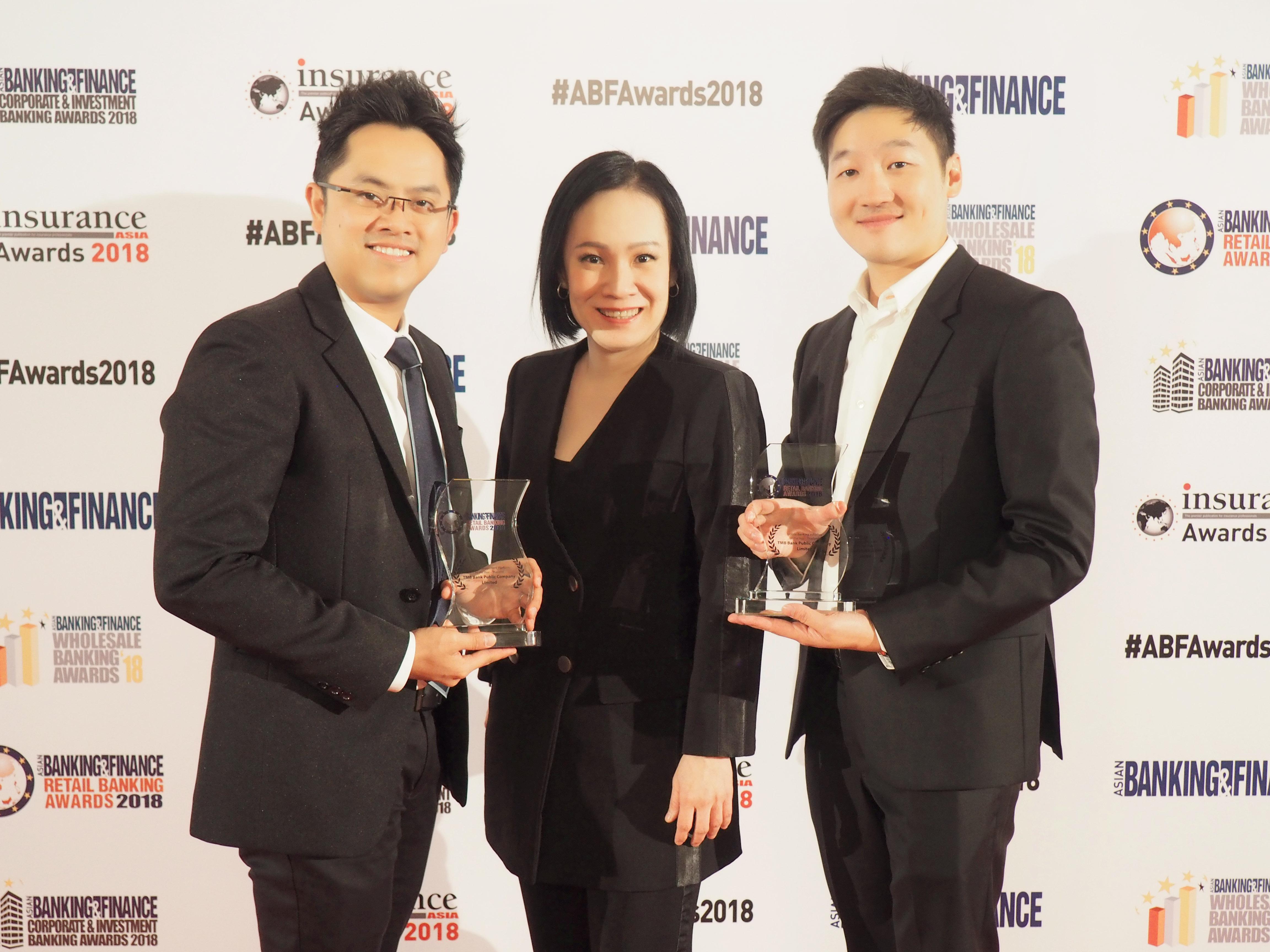 ทีเอ็มบี คว้า 2 รางวัลใหญ่จากเวที Asian Banking & Finance Awards 2018